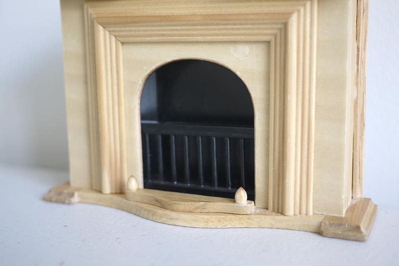 Dollhouse wood fireplace dolls house 1 12th scale miniature furniture