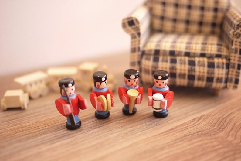 Dollhouse nutcracker German toy dolls house wood 1 12 scale miniature