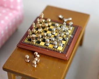 Dollhouse Miniature chess set chess piece