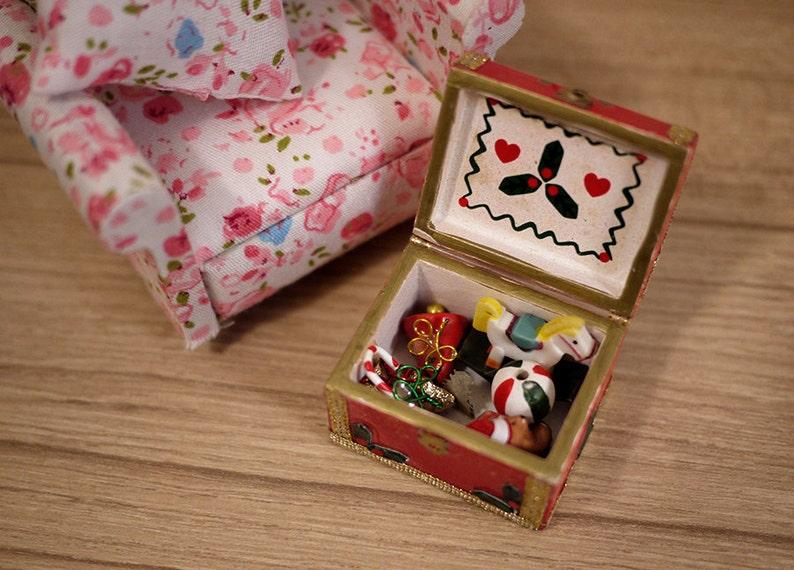 Dollhouse toy storage set dolls house box 1 12th scale miniature