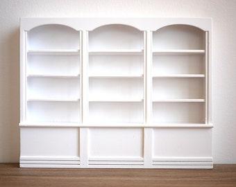 Dollhouse bookshelf miniature furniture multipurpose storage 1 12th scale wooden shelf Thanksgiving gift
