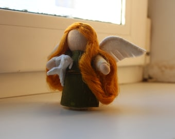 Saint Agnessa// St Agnessa// Gift From Tooth Fairy // Pocket Doll // Miniature Doll // Waldorf toy // Table Nature //