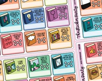 2021 Popsugar Reading Challenge Planner Stickers