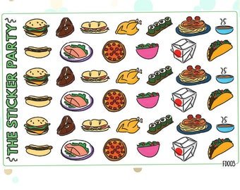 Lunch & Dinner Meal Planner Stickers