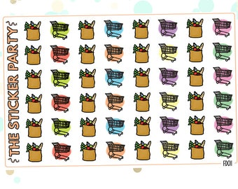 Grocery Shopping Groceries Planner Stickers