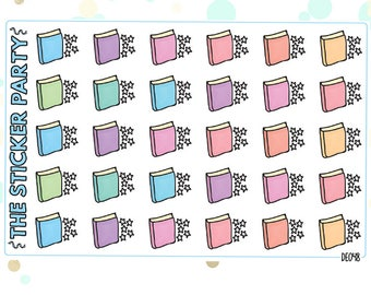 Book Review/Book Ratings Planner Stickers | Erin Condren