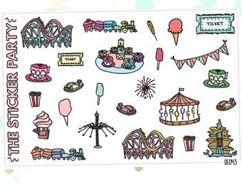 Amusement Park Planner Stickers