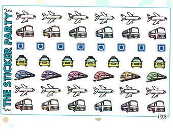 Assorted Transportation Planner Stickers