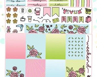 Roses Planner Sticker Kit for Erin Condren Vertical Life Planner