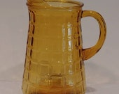 Vintage Amber Glass Pitch...