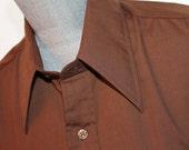 Vintage  Brown Button Dow...