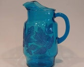 Vintage Bright Blue Glass...