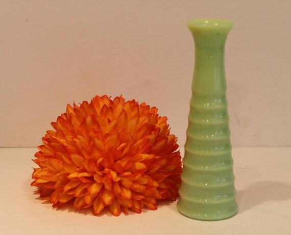 Jeannette Jadeite Vase Ribbed Jadite Bud Vase Art Deco Etsy