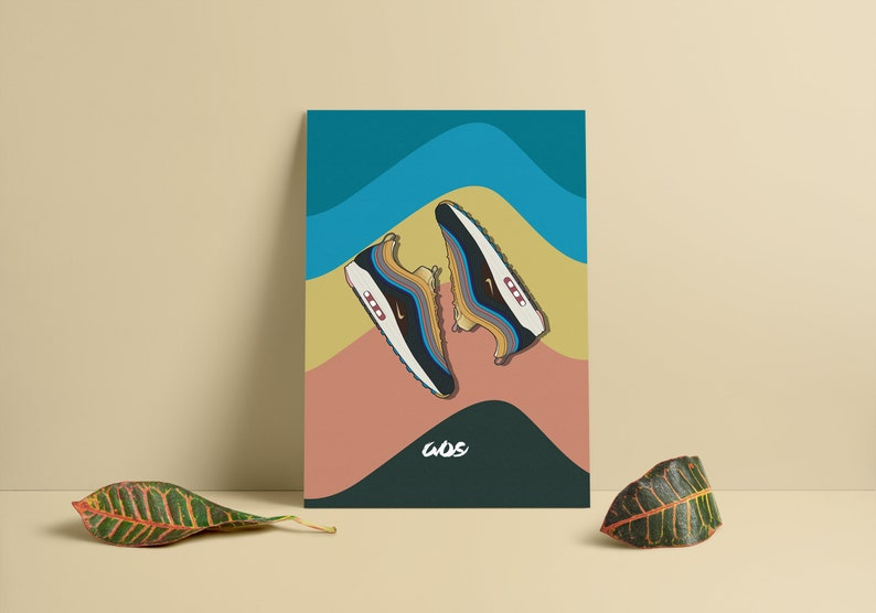hot sale online 3c11c e9283 Framed Nike X Sean Wotherspoon Sneaker Print   art   Sean   Etsy