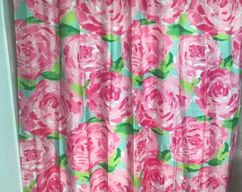 Hotty Pink First Impression Shower Curtain Lilly Pulitzer