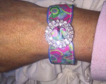 Magnetic Ribbon bracelet Lilly Pulitzer Shell We Dance Bracelet