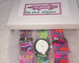 Lilly Pulitzer Blue Heaven and scuba to Cuba Watch Set