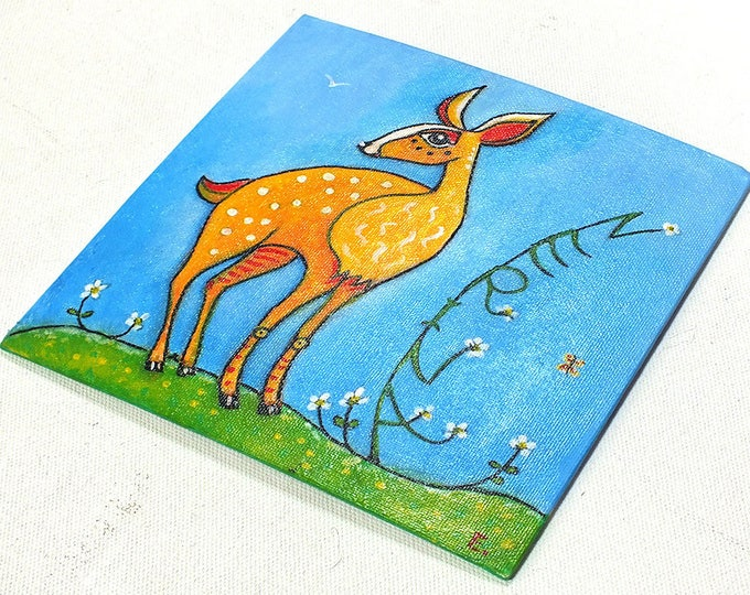 Fawn - customizable acrylic on canvas painting