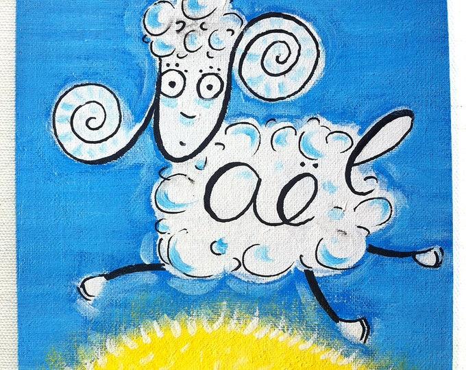 Sheep - customizable acrylic on canvas painting