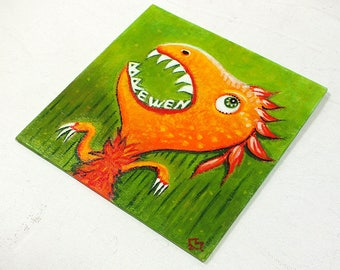 Dinosaur - customizable acrylic on canvas painting