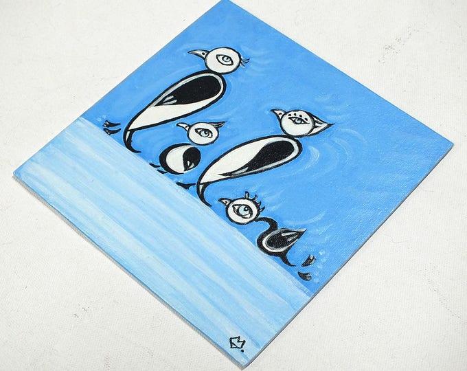 Penguins - customizable acrylic on canvas painting