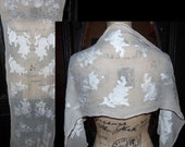 Antique Victorian Edwardian Floral Romantic Dress Table Runner Piano Shawl as is