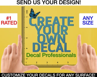 Custom Decal - Logo Wall Decal - Custom Wall Sticker - Custom Decal Sticker - Custom Logo Decal - Wall Quote - Create your Own decal