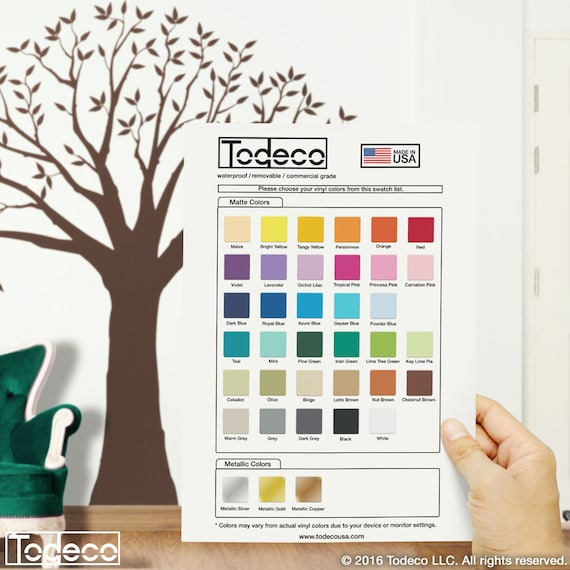 wall decal color samples color guide swatches try before you buy | etsy