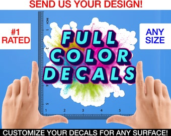 Multicolor Custom Decal, Full Color Decal, Multicolor Custom Wall Decal, Multicolor Decal, Full Color Custom Decal, Full Color Wall Decal