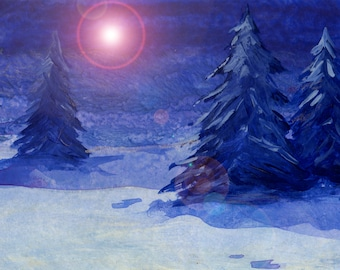 Holiday Greeting Cards - The Blue Series