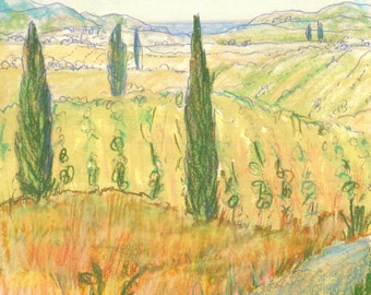 Blank Greeting Cards - Tuscan Landscapes