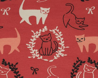 Knit Pas De Chat from the Pirouette Collection by Arleen Hillyer Organic Cotton Interlock Knit Birch Fabrics by the Half Yard