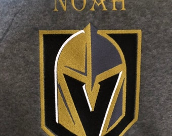 Personalized LV Knights Embroidered Blanket, Las Vegas Golden Knights Game Blanket, Car Blanket