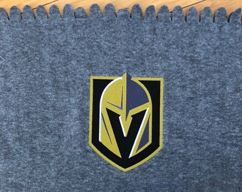 LV Knights Embroidered Blanket Las Vegas Golden Knights Logo Throw