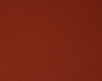 Brick Red Solid Organic Quilt Weight Cotton Poplin Cotton Fabric by the Yard Birch Fabrics
