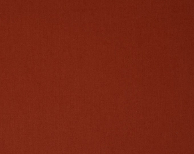 Brick Red Solid Organic Quilt Weight Cotton Poplin Cotton Fabric by the Yard Birch Fabrics