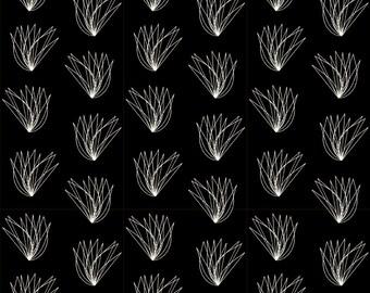 Wings on Black Quilt Weight Organic Cotton Poplin Charley Harper Birch Fabrics