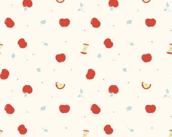 Apple Organic Cotton Interlock Knit by Jenny Ronen for Birch Fabrics