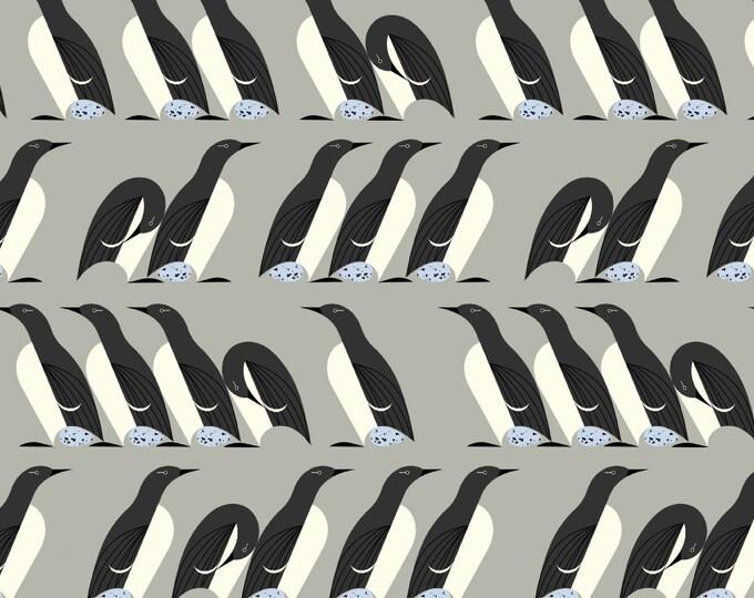 "Murre Murre by Charley Harper, Birch Fabrics Organic Quilt Cotton Poplin ""Best of Charley Harper"""