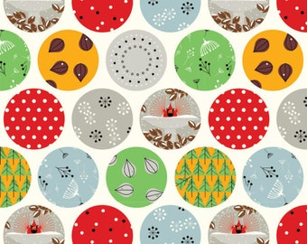 Ornaments Charley Harper Holiday Collection from Birch Organic Fabrics Quilt Weight Poplin by the Yard