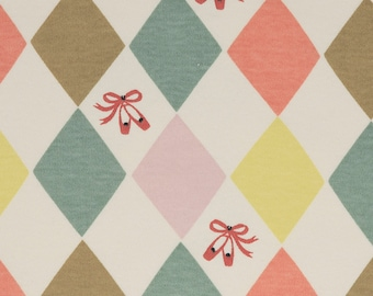 Knit Harlequinade from the Pirouette Collection Organic Cotton Interlock Knit from Birch Fabrics