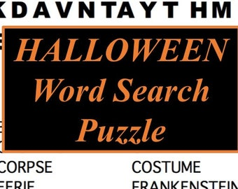 printable halloween word search puzzle halloween party game healthy trick or treat