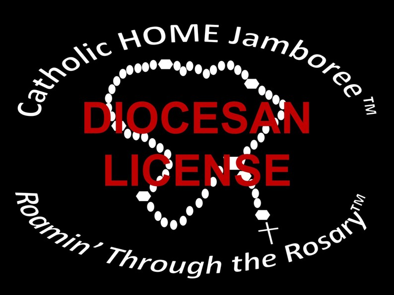 Diocesan License for Roamin' Through the Rosary Catholic image 0
