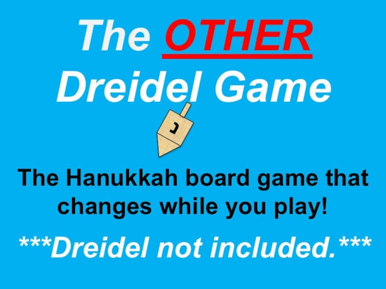 image about How to Play the Dreidel Game Printable called The Other Dreidel Activity, Printable Hanukkah Board Activity for 3-8 Gamers Age 8 and Up