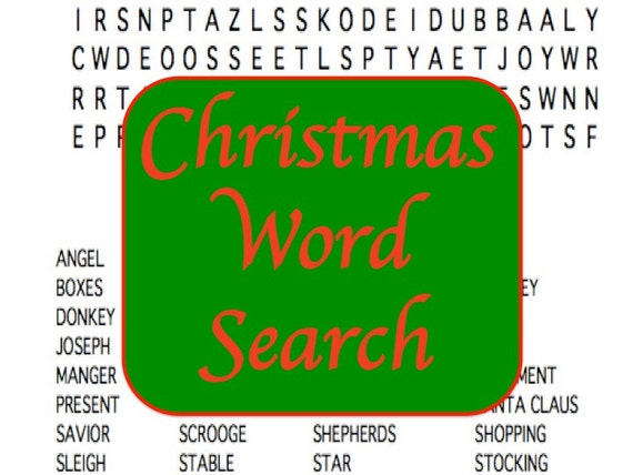 picture relating to Christmas Word Search Puzzles Printable named Printable Xmas Phrase Glance Puzzle, Family vacation Social gathering Video game, Electronic Obtain