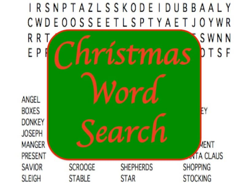 Printable Christmas Word Search Puzzle with Both Religious and image 0