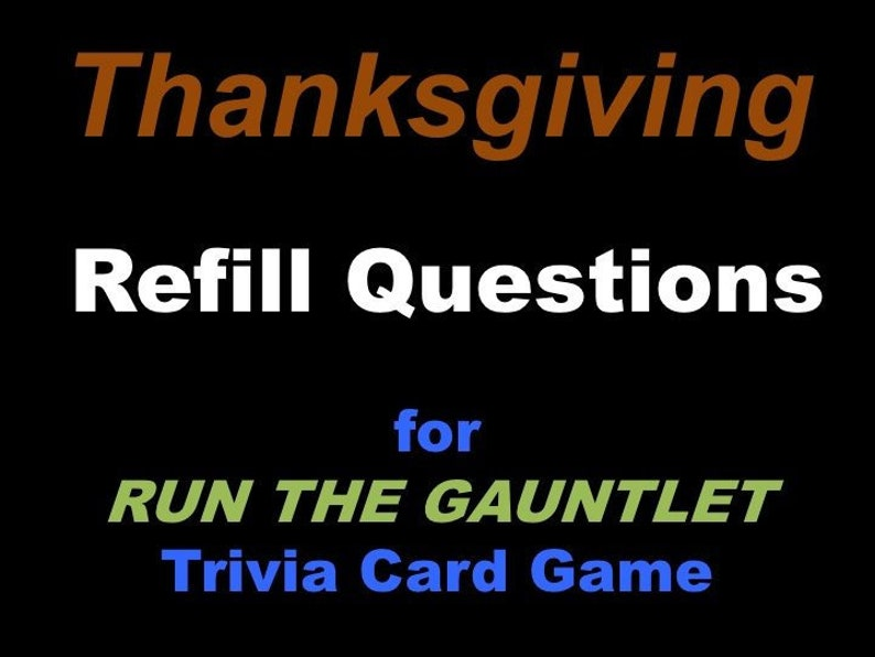 Printable Thanksgiving Trivia Question Cards for Run the image 0