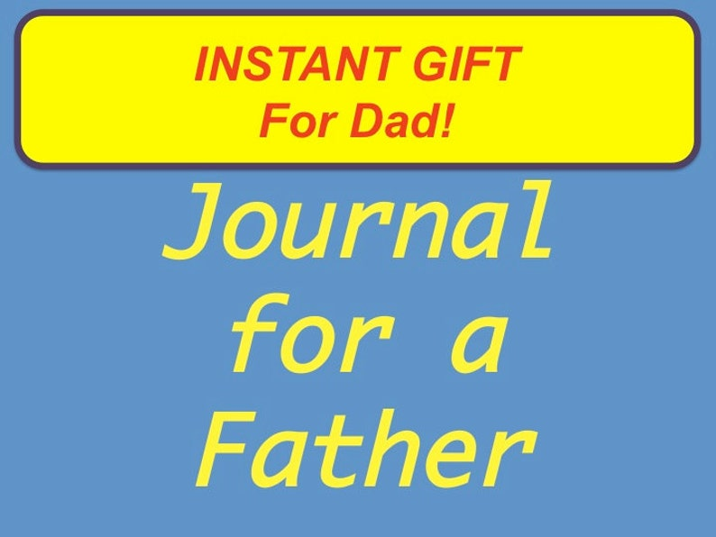 Journal for a Father Printable Lined Journal with 125 image 0