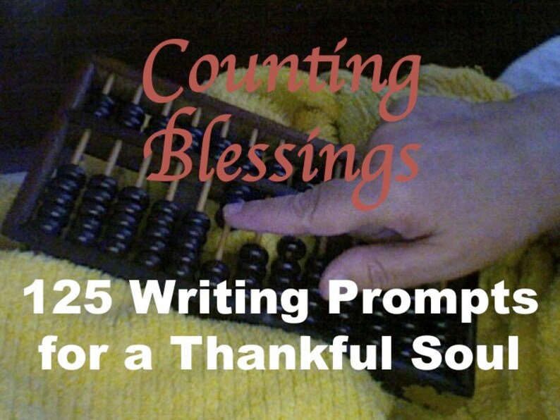 Counting Blessings Printable Lined Gratitude Journal with image 0