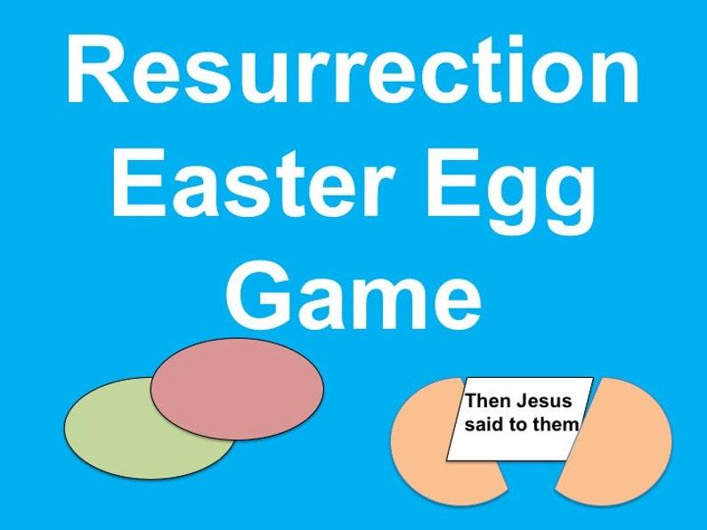 Printable Resurrection Easter Egg Fillers for Family Fun image 0